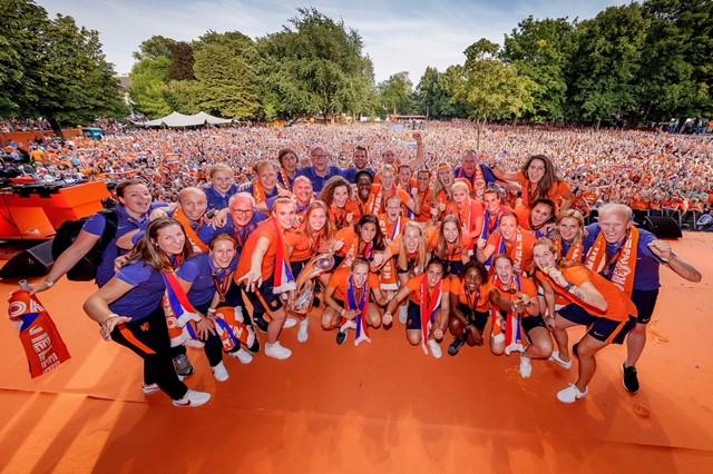 Huldiging Oranje Leeuwinnen WEURO 2017 - Foto: KNVB Media