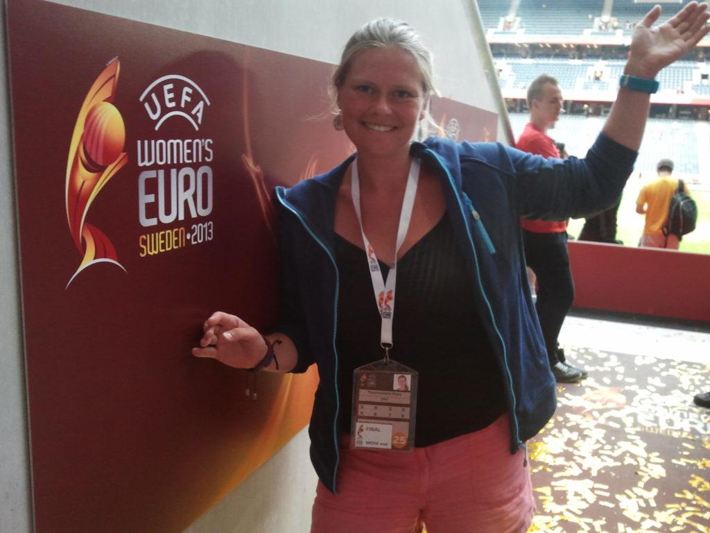 Annemarie tijdens het EK 2013