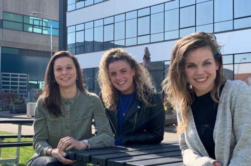 De dames van Team Thinc Ahead met vlnr Lonneke Valk, Manon Kesselaer en Esther Ammerlaan